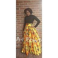 High Waist African Pottery Skirt